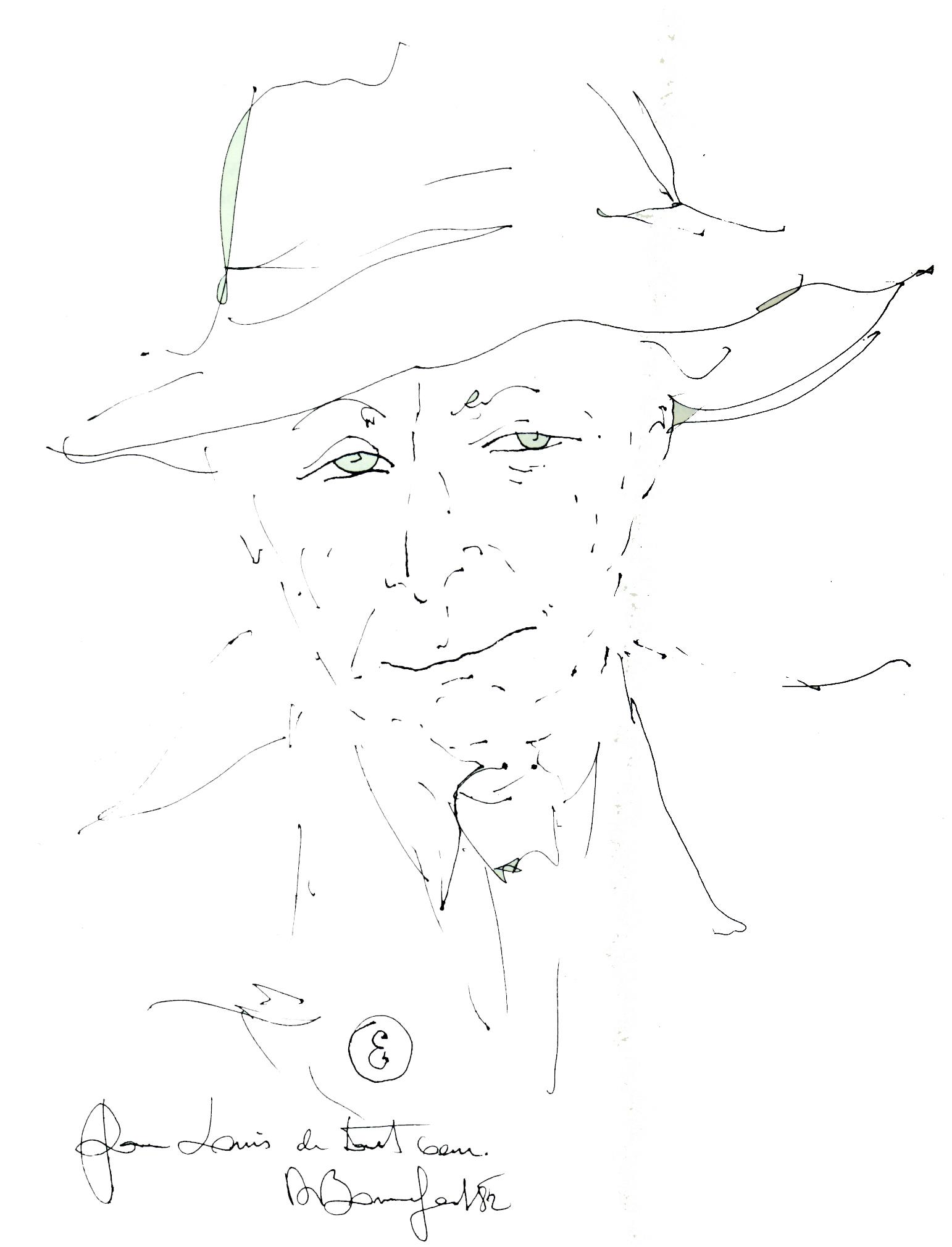 Aragon ritratto da Alain Bonnefoit