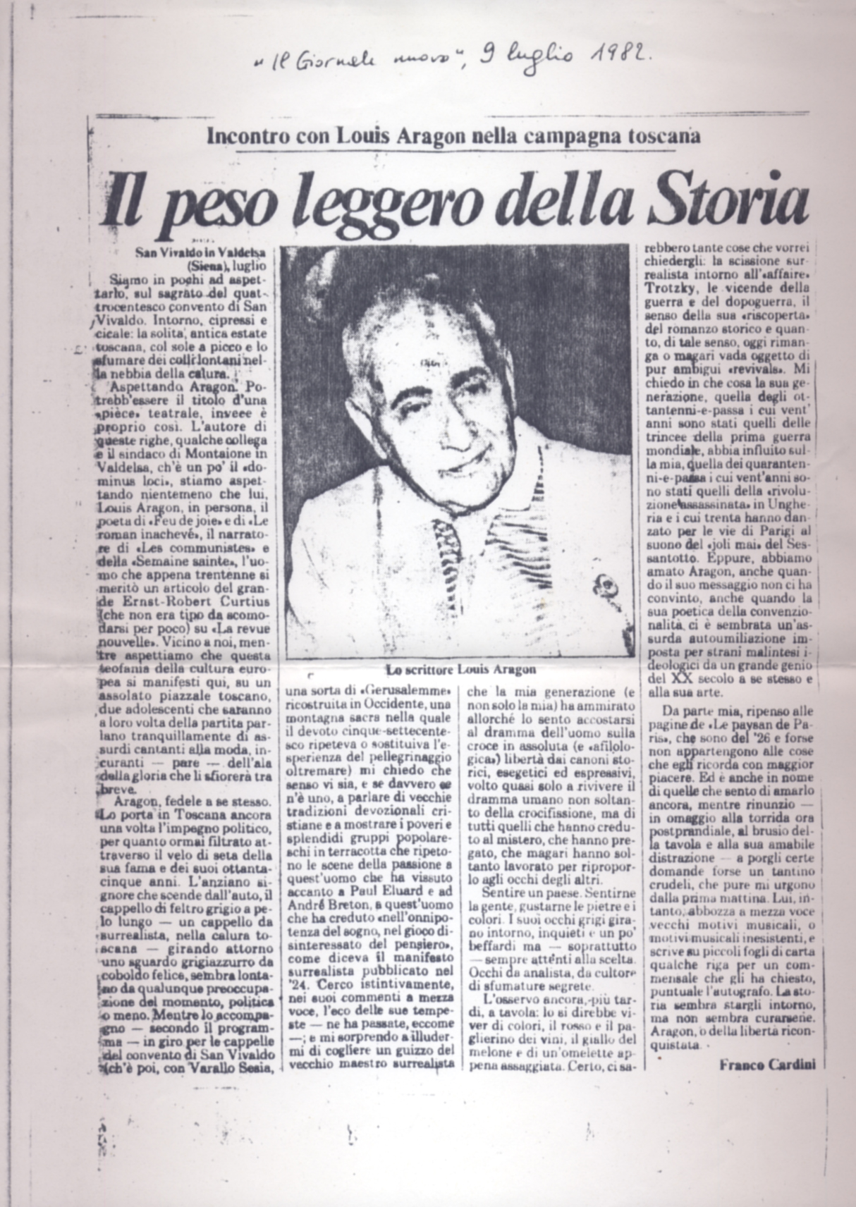 Franco Cardini su Aragon