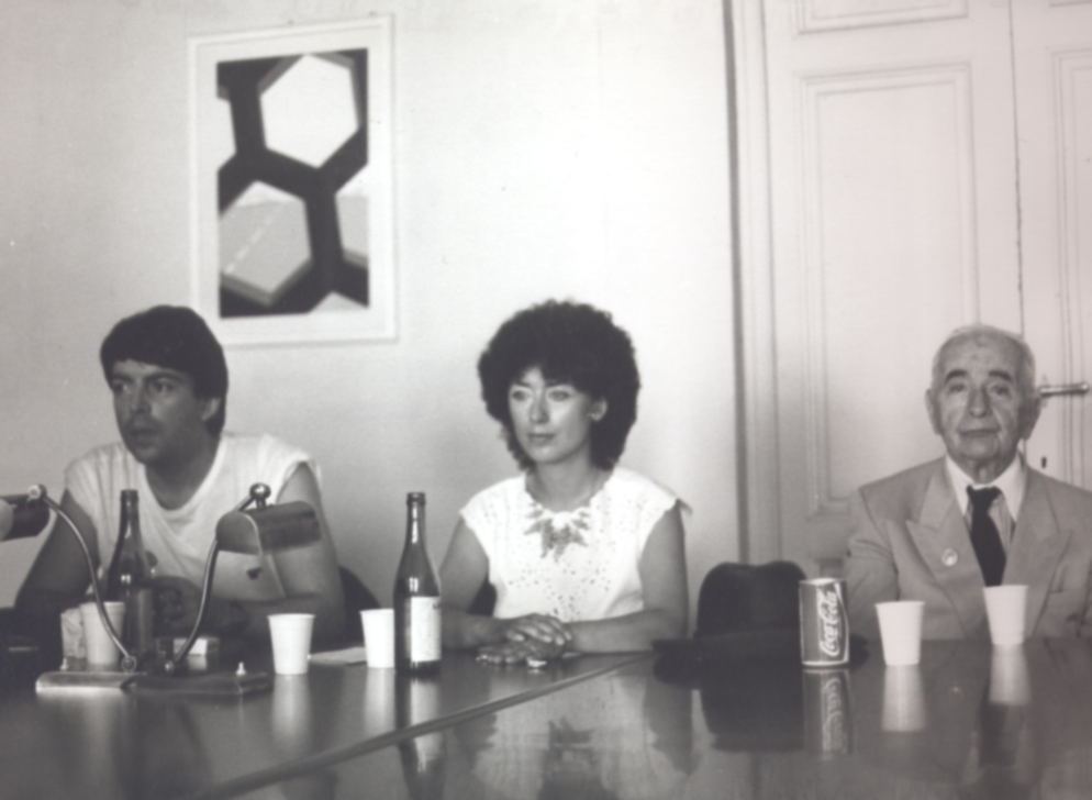 Louis Aragon, Jean Ristat e Sandra Landi